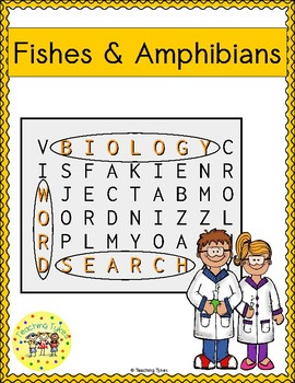 Fishes and Amphibians Word Search