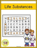 Life Substances Word Search