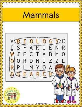 Mammals Word Search
