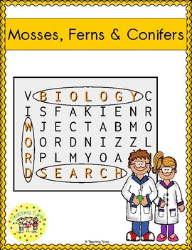 Mosses Ferns Conifers Word Search