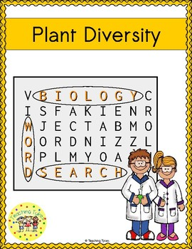 Plant Diversity Word Search