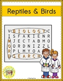 Reptiles and Birds Word Search