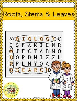 Roots Stems Leaves Word Search