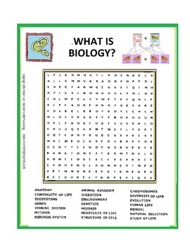 What is Biology? Word Search or Wordsearch