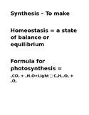 Biology Word Wall Editable!!