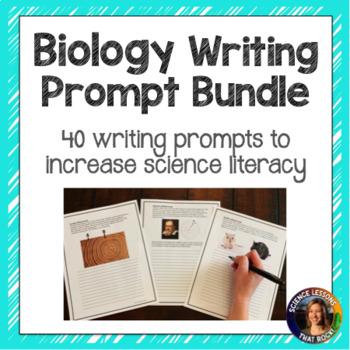 Biology Writing Prompts Year Long Bundle