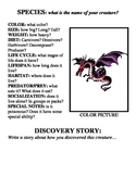 Biology and Creative Writing Lab - Create a new species