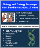 Biology and Ecology Scavenger Hunt Bundle - 14 Digital Science Activities