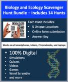 Biology and Ecology Scavenger Hunt Bundle - 14 Digital Science Activities
