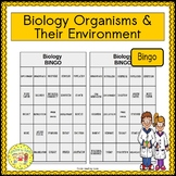 Biology and Organisms and Their Environment BINGO