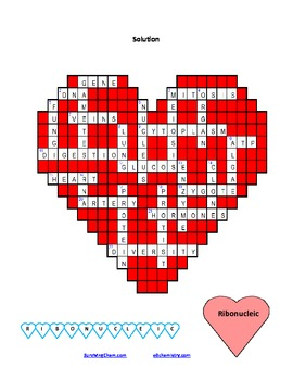 Biology Of Love: A Fun Valentineu0027s Day Puzzle Activity For MS/HS Level  Classes