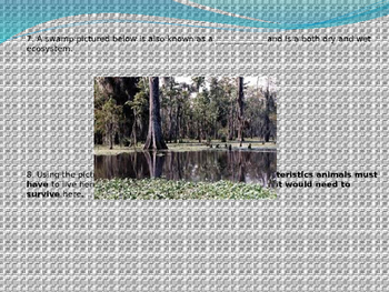 Biology powerpoint - Water Ecosystems quiz, ecology, biology