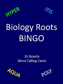 Biology roots BINGO!