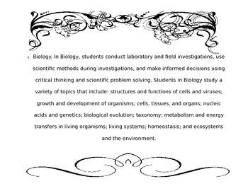 Biology teks printable posters