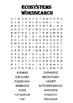 Biology word search Puzzle: Ecosystems (Includes answer key)