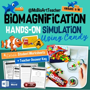 biomagnification simulation with skittles