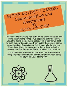 Biome Activity Cards