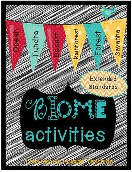 Biome activities teaching resources teachers pay teachers biome activity packet extended standards biome activity packet extended standards fandeluxe Choice Image