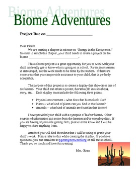 Biome Adventure Habitat Project