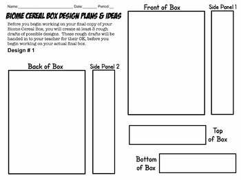 Biome Cereal Box Project