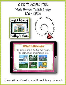 World Biomes Review {Multiple Choice Boom Learning Digital Interactive Game}