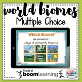 World Biomes Review {Multiple Choice Boom Cards Digital Interactive Game}