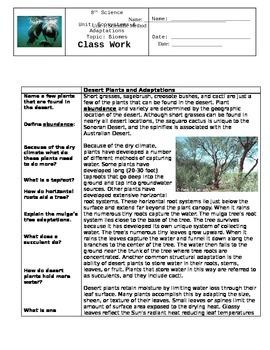 Biome Class Activities