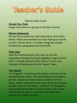 Biome Fantasy Draft!