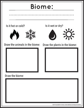 Intro to Biomes (includes Worksheet, Pre-K and K)