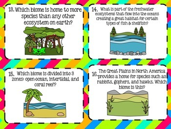 Biome Identification Task Cards