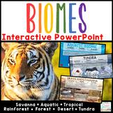 Biomes PowerPoint Google Slides Forest Tundra Rainforest Desert Animal Habitats