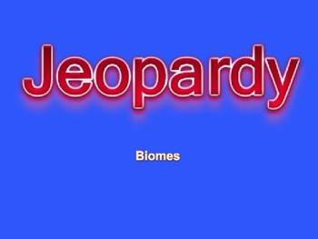 Biome Jeopardy