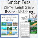 BINDER TASK Biome, Landform, and Habitat Matching
