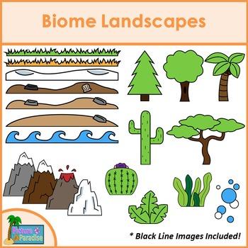 Biome Landscapes Clip Art