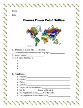 Biome PowerPoint Outline