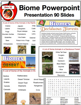 Science Education - Biome  and Habitats Powerpoint Presentation 90 Slides