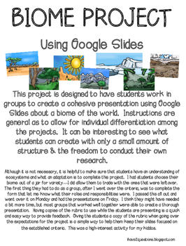 Biome Project for Google Slides