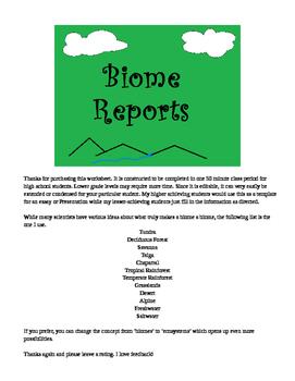 Biome Reports