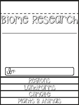 Biome Research Flip Book