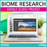 Biome Research Google Slides™ Project & Presentation | Editable