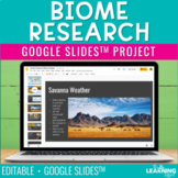 Biome Research for Google Slides™ Project and Presentation