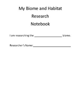 Biome Research Notebook