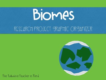 Biome Research Project Graphic Organizer