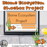 Biome Shoe Box Project for 5th Grade NGSS - Now Digital