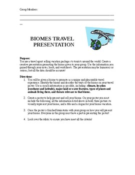 Biome Travel Project
