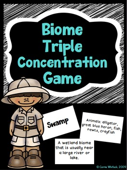 Biome Triple Concentration Game