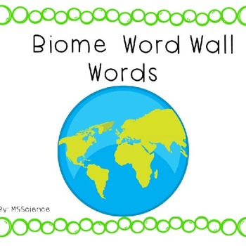 Biome Word Wall Words