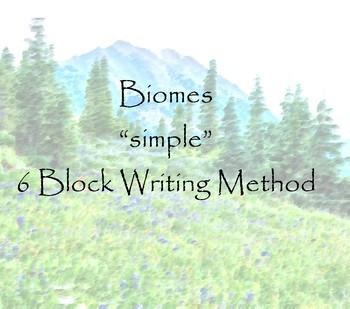 Biome Writing 6 Block Method