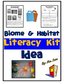 Biome and Habitat Literacy Kit Idea