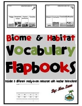 Biome and Habitat Vocabulary Flapbooks
